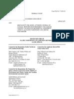 PNW LNG Motion to Strike Zickfeld and Kniewasser Affidavits July 2017