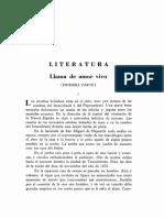Llama de Amor Viva - Arturo Torres-Rioseco (Parte 1)