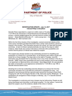 Keith Dana Arrest Statement
