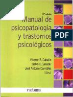 Caballo, Vicente - Manual de Psicopatologi_a Ed 2014