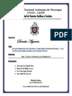 Caratula Trabajo Derecho II Agrario 20-05-2017