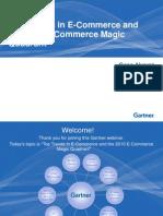 Top Trends in E-Commerce Und 2010 E-Commerce Magic Quadrant