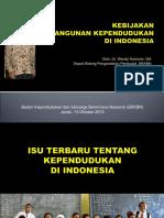 Kebijakan Pembangunan Kependudukan Di Indonesia
