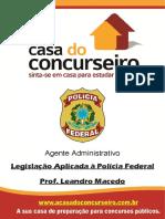 Apostila Pf Agente Administrativo Legislacao Leandro Macedo