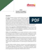 Reglamento Sorteo Pantalla en Activaciones Disensa 2017