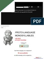 PROTO-LANGUAGE MONOSYLLABLES With Their Principal Meanings by Patrick C. Ryan