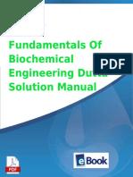 Fundamentals of Biochemical Engineering Dutta Solution Manual