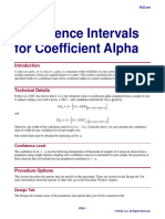 Confidence Intervals for Coefficient Alpha