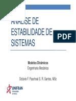 Aula 09 - Estabilidade de Sistemas - Mec(1)