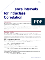 Confidence Intervals for Intraclass Correlation