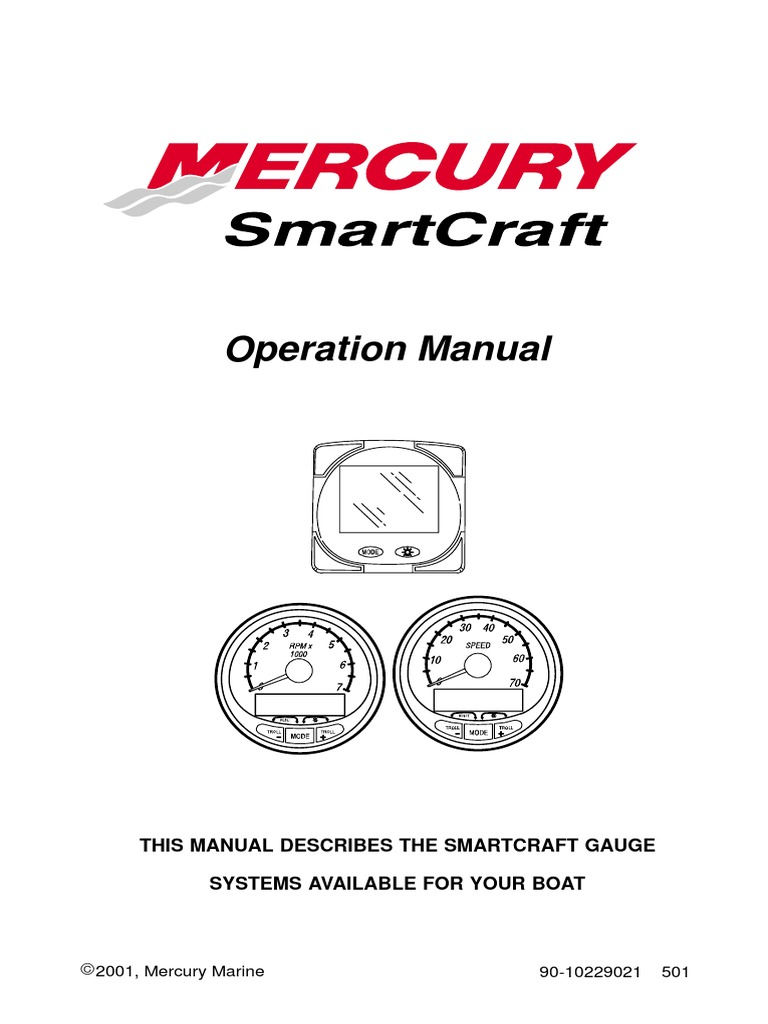 Mercury SmartCraft Operations Manual | Fahrenheit | Computer