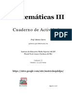 Cuaderno de Actividades para Matemáticas 3