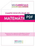 Nuevo Curriculum MATEMATICAS