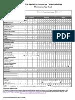 Preventive Care Guidelines 2016 Pediatric