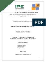 Perfil de Proyecto LIJADORA Básica