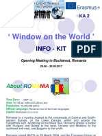 Info-Kit Bucharest Romania Window on the World KA2 14.07.2017