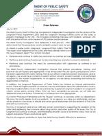 07.14.17 Press Release LHA Investigation