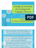 Strategies of Assessment for Learning in the Language Classroom