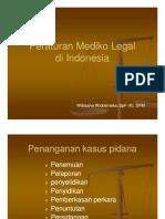 Peraturan Mediko Legal