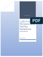 LLB111A Persons and Family Relations CASE DIGESTS