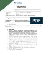 Asesor III Coordinador de Infraestructura Formulario Descripcion