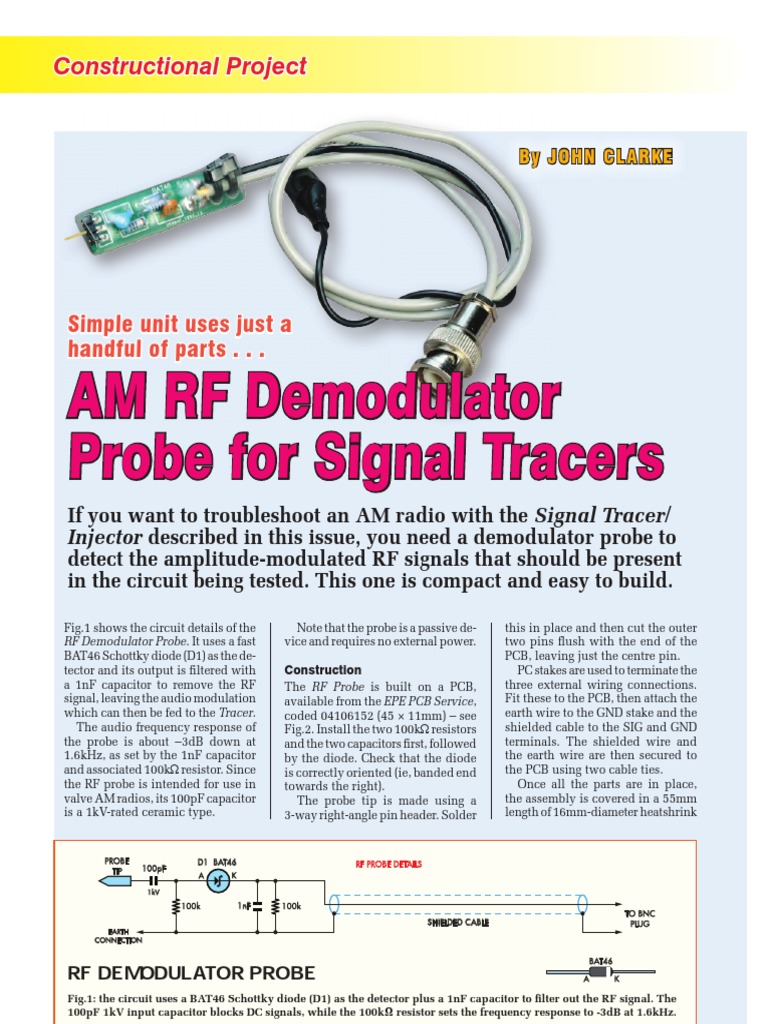 RF Probe for Signal Tracers | Electrical Connector | Printed Circuit ...