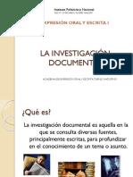 LA INVESTIGACIÓN DOCUMENTAL.pptx