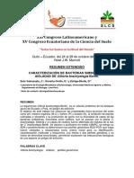 Caracterización de bacterias simbióticas de la leguminosa Clitoria brachystegia Benth.