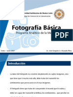 FOTOGRAFA. Programa Analitico