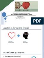 Altruismo Eficaz (Madrid Marzo 2017)