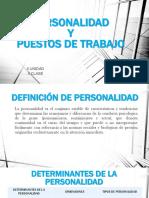 II Unidad Personalidad y Puesto de Trabajo II Clase