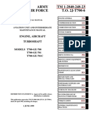 TM - 1 2840 248 23   Engines   Technology & Engineering   Ge T701c Turbine Engine Operating Diagram      Scribd