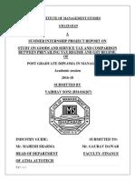 Study on GST - Vaibhav Soni