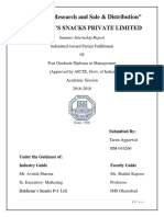 Market Research and Sales & Distribution in Haldiram snack pvt. ltd. - Tarun Aggarwal