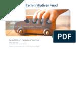 Kansas Children's Cabinet & Trust Fund Annnual Report 2016
