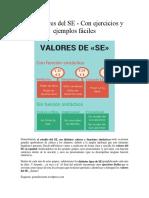 Los Valores Del SE
