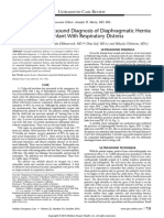 Point-Of-Care Ultrasound Diagnosis of Diaphragmatic Hernia in an Infant With Respiratory Distress