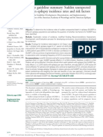 Practice Guideline Summary Sudden Unexpected Death in Epilepsy Incidence Rates and Risk Factors