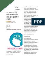 Inteligencia Competitiva o El Poder La Información