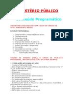 MINISTÉRIO PÚBLICO - CONTEÚDO