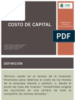 Monografía - Costo de Capital