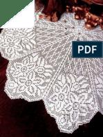 Carpeta Flores Crochet Filet