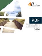 Memoria de sostenibilidad Grupo Tragsa 2016