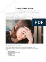 Pencegahan Trauma Kepala Ringan