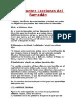 Importantes Lecciones del Ramadán