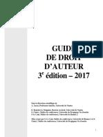 Guide Du Droit d'auteur 3e Ed 2017