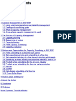 Capacity Planning Contents
