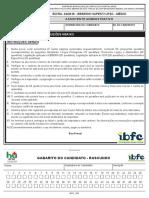 Ibfc 2016 Ebserh Assistente Administrativo Hupest Ufsc Prova