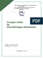 Compte Rendu de Microbiologie Alimentaire