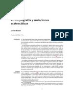 Ortotipografía y notaciones matemáticas